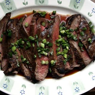 Marinated Flank Steak Ginger Soy Scallions Recipes