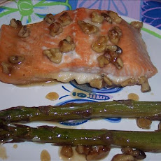 Honey Glazed Salmon With Asparagus