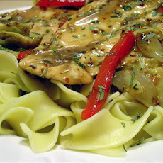 Chicken Paillards With Artichokes & Dijon Sauce