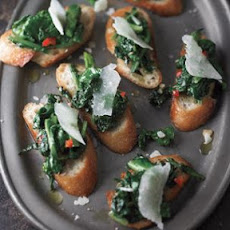 Toasts with Spicy Broccoli Rabe and Pecorino (Crostini con Rapini Piccanti)