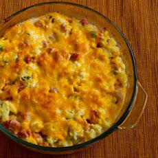 Ham and Cauliflower Casserole au Gratin