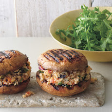 Grilled Portabella and Bulgur Salad