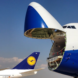 Sakin ol ufaklik by YEK 567 - Transportation Airplanes ( b747, intercontinental, lufthansa, boeing )