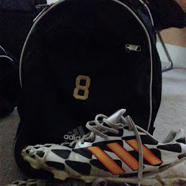 Used and Abused  by Anna Tripodi - Artistic Objects Clothing & Accessories ( shoes, grass, done, dirt, soccer,  )
