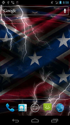 3D Rebel Flag Live Wallpaper ★