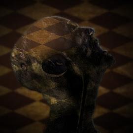 head by Dietmar Kuhn - Digital Art People ( abstract, dark, depth of field, moody, head, man )