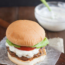 Middle Eastern Turkey Burgers with Tzatziki Sauce