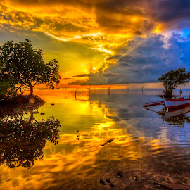 sunrise by Ronald Anyayahan - Landscapes Sunsets & Sunrises