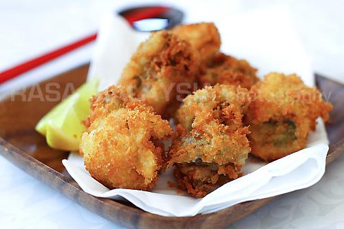 Fried Oysters With Panko Kaki