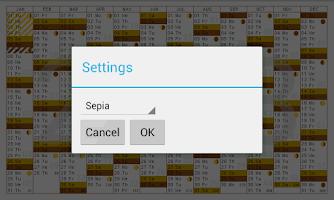 Screenshot of Year planner 2014 2015 free