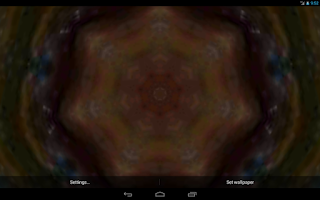 Screenshot of Kaleidoscope Live Wallpaper
