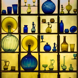 Framed by John Finch - Artistic Objects Glass ( glass art, framed, bottles, artistic objects, antique,  )