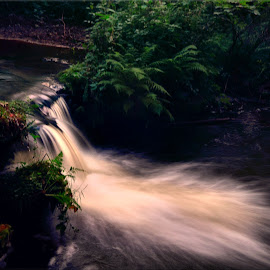 Harlaw slow shutter by Nic Scott - Nature Up Close Water ( harlaw reservoir, waterfall, slow shutter )