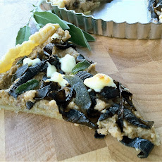 Roasted Cauliflower, Caramelized Onion & Crispy Sage Tart