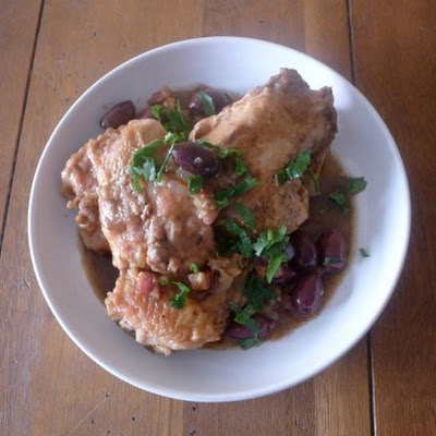 The Art of Eating's Sautéed Chicken with Tomatoes and Olives