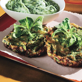 Tender Zucchini Fritters with Green Goddess Dressing