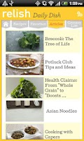 Screenshot of Relish Daily Dish Recipes