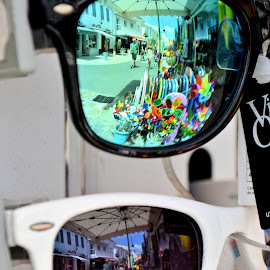 Reflections of summer by Heather Aplin - Artistic Objects Clothing & Accessories ( colour, lenses, market, reflections, summer, sunglasses )
