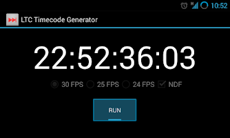Screenshot of LTC Timecode Generator Free