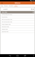 Screenshot of mobilePDR® for Prescribers