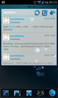 Screenshot of GOWidget Blue ICS Light Free