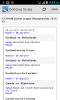 Screenshot of CricU (IPL 2014 Live Score)