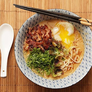 Turkey Paitan Ramen With Crispy Turkey and Soft Cooked Egg