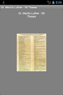 Martin Luther 95 Theses Reader - screenshot
