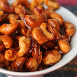 Smoky and Spicy Candied Cashews