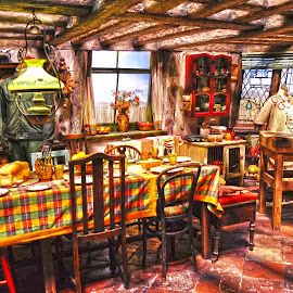 The Burrow kitchen at Harry Potter Studios by Ruth Holt - Novices Only Objects & Still Life ( warner bros, london, ron, harry potter, weasley, kitchen )
