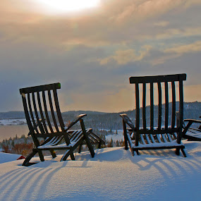 by Bente Agerup - Artistic Objects Furniture ( winter, nature, chairs, snow, sunbath )