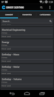 Screenshot of Convert Everything Pro - Units