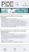 Screenshot of APPide. Foro de Sindicato PIDE