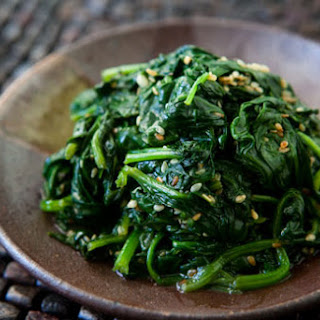 Spinach with Sesame and Garlic