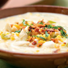 Crab and Corn Chowder with Bacon