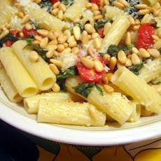 Penne With Spinach and Two Cheeses