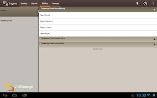 Screenshot of CoVantage Mobile Banking