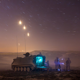 FIRE And ARTILLERY NOCTURNAL by Juan PIXELECTA - News & Events World Events ( army, soldiers, stars, nocturne, fire, war )