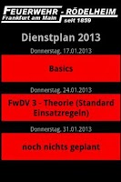 Screenshot of Dienstplan FF Rödelheim