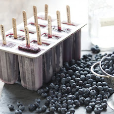 Blueberry Moonshine Popsicles