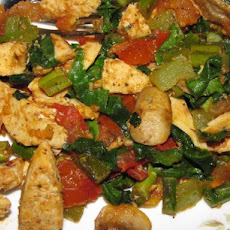 Garlic Chicken Tomato Fry