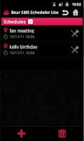 Screenshot of SMS Scheduler Lite