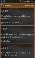 Screenshot of History of Quebec