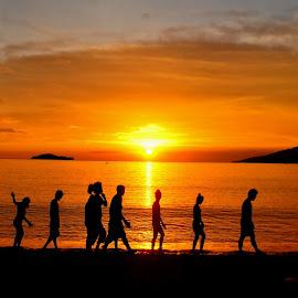 Sunset - 5/26/14 by Say Bernardo - Landscapes Sunsets & Sunrises ( sunset, hcc outing, batangas, philippines,  )