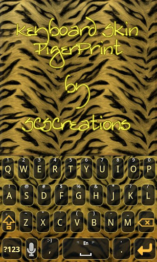KB SKIN - Tiger Print