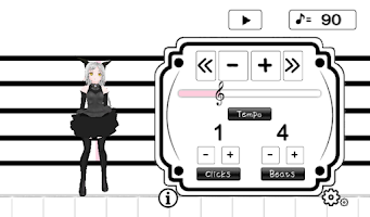 Screenshot of Cute characters metronome