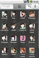 Screenshot of Cute girl Full Theme