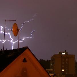 Lightning strike by Boštjan Henigman - Landscapes Weather ( lightning )