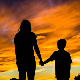 Mother and Son by Shaun Peterson - People Family