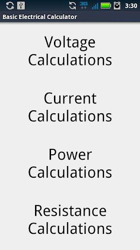 Basic Electrical Calculator